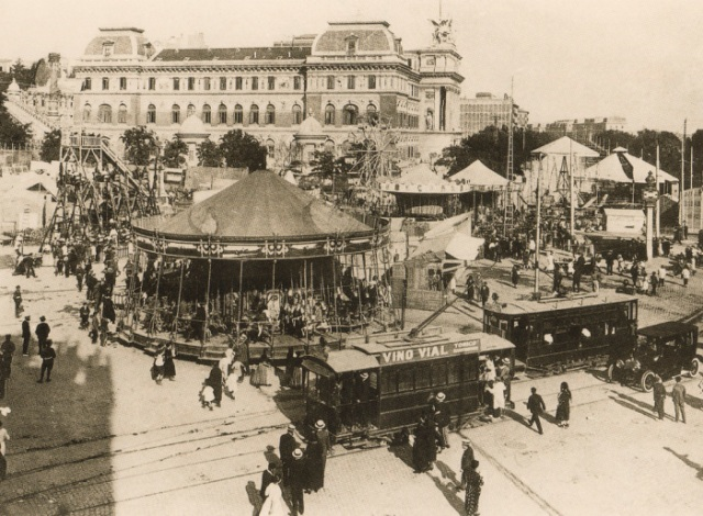 Carnival - Glorieta Atocha, Madrid, 1920s