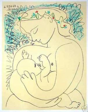 picasso maternidad 1963