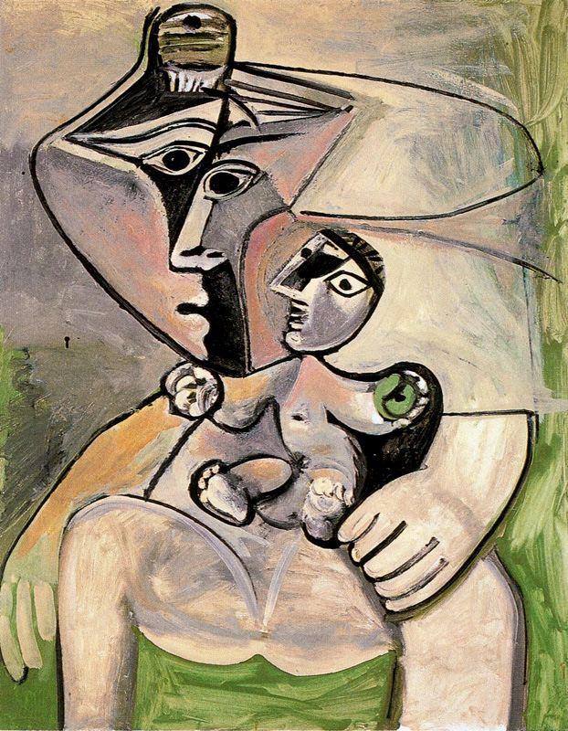 Picasso_maternidad con manzana_1971