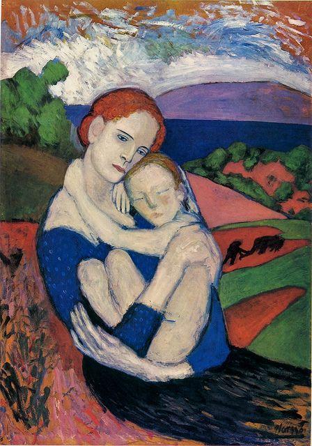 Picasso_maternidad en el campo_1901