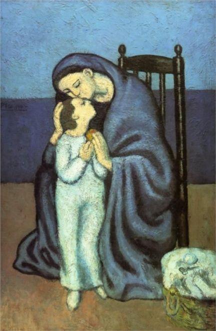 Picasso_maternidad_blue period_madre e hijo-1901