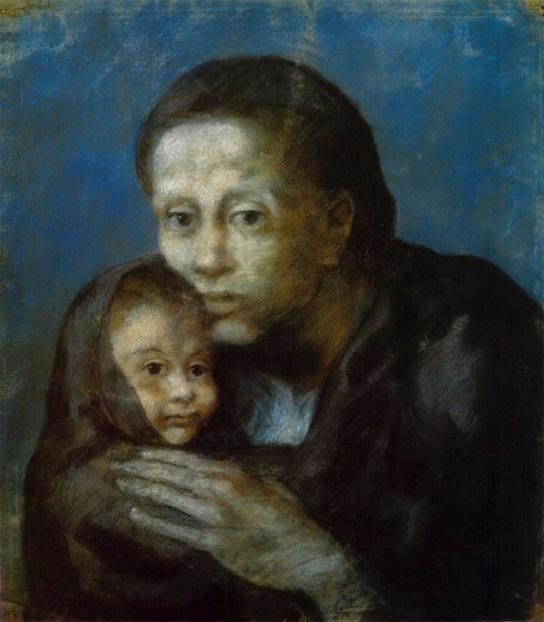 Picasso_maternidad_blue period_madre e hijo-1903-wikipedia