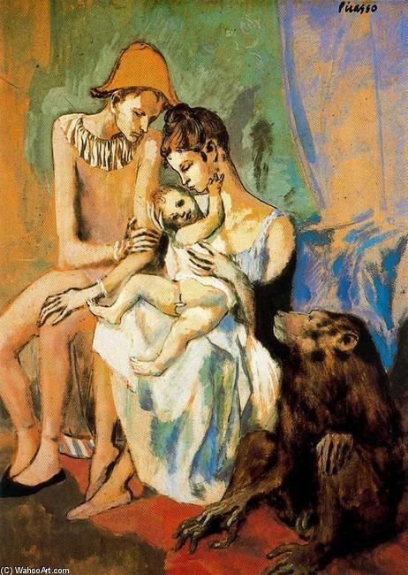 Picasso_maternidad_Familia de acrobatas con mono