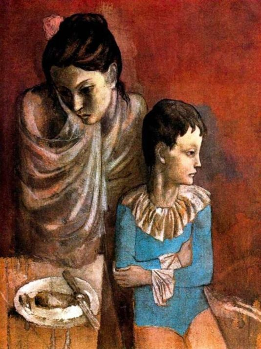 Picasso_maternidad_madre e hijo saltimbanquis-1905