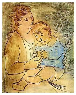 Picasso_maternidad_Mother and child_1922