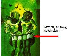 Detail - Vagina Dentata: Dali's poster, campaign against venereal disease