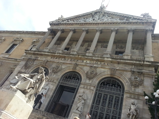 I also managed to get a researcher's card for Spain's National Library (La Biblioteca Nacional) in Madrid, which was quite an accomplishment! Photo: Madrid, June 2014.