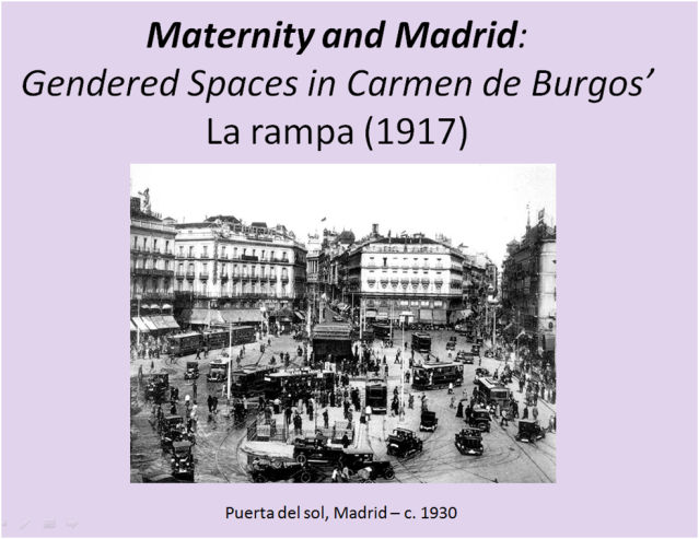 Maternity in Madrid - Title slide