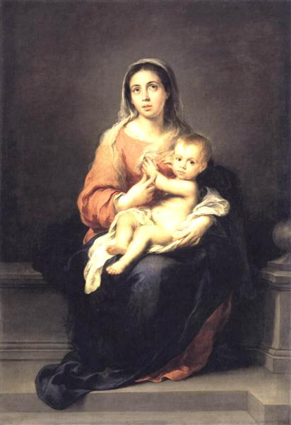 Madonna and Child_Murillo-wikiart