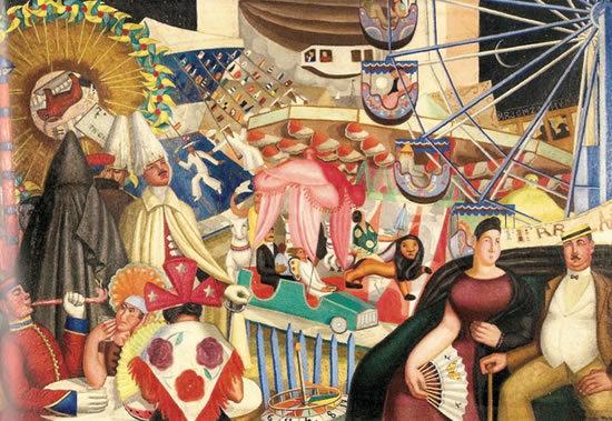 """""""Verbena"""" (Street fair), 1928. Image via Curiator"""