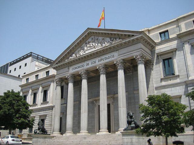 Today: Palacio de las Cortes, Congreso de los diputados. Madrid. Image via wikipedia.