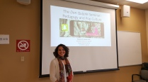 Presenting my students' Don Quijote Snapchat project at the Cervantes Society of North America's annual conference at the University of Calgary, Canada, Sept-Oct '18