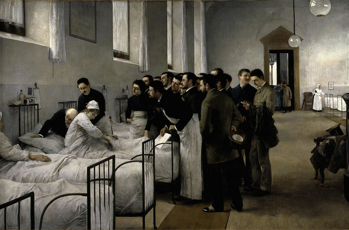 Luis Jimenez y Aranda_Sala del hospital_1889_wikimedia