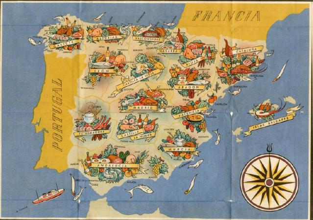Mapa gastronomico_Feria Barcelona-1944